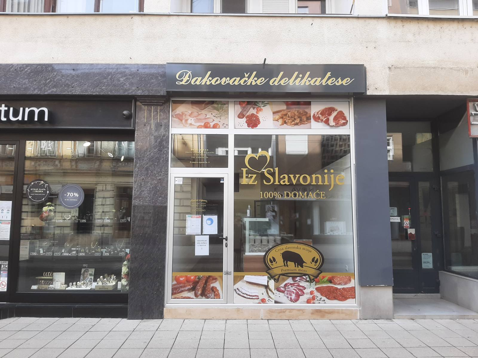Novootvorena trgovina Đakovačkih delikatesa u Osijeku